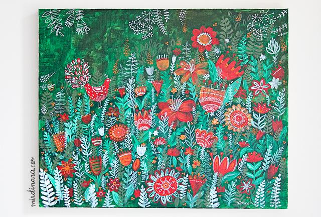 Garden painting2 by dinara mirtalipova