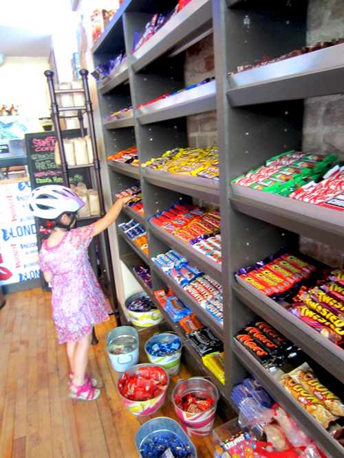 Kid in candy shop