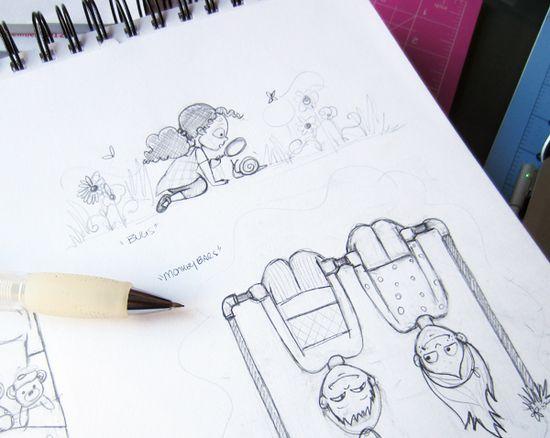 Nicole Alesi sketches